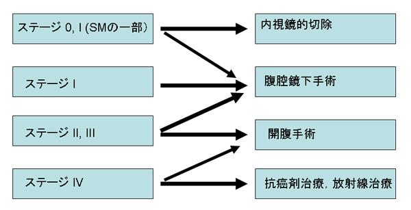 図2 大腸癌のステージ別治療方針