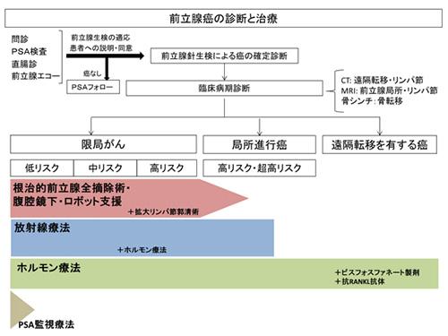 図1.前立腺がんの診断に用いるリスク分類