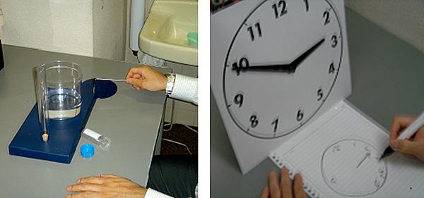 図2. 高次脳機能検査の訓練風景