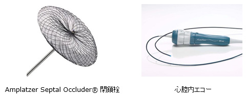 Amplatzer Septal Occluder® 閉鎖栓  心腔内エコー
