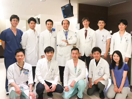 腫瘍センター 低侵襲療法研究開発部門において治療に携わっているスタッフ