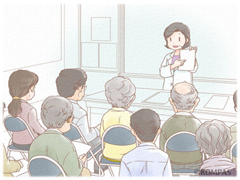 図2.講話と質疑応答