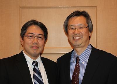 左から永尾 圭介(専任講師)、天谷 雅行(教授)