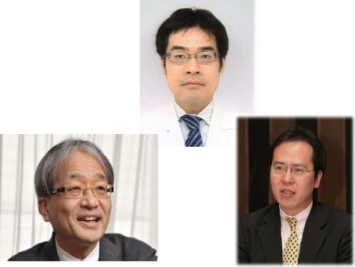 左から:伊藤 裕(教授)、 長谷川一宏(助教)、 脇野 修(講師)
