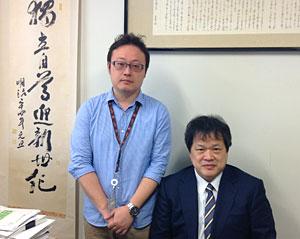 左:筆者、右:末松 誠(医化学教室教授)
