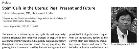 Stem Cells in the Uterus: Past, Present and Future.