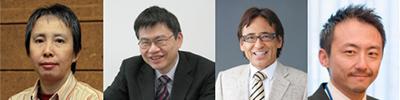 左から、松崎有未先生、岡野栄之先生、坪田一男先生、榛村重人先生
