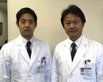 左:筆者、右:中村雅也整形外科学教室教授