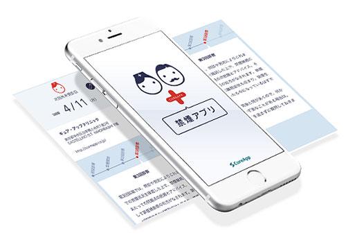 図3. 禁煙治療アプリのスマホ画面イメージ