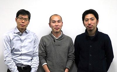 左から、本田賢也(微生物・免疫学教室教授)、新幸二(同教室准教授)、河口貴昭(同教室・消化器内科学教室大学院生)