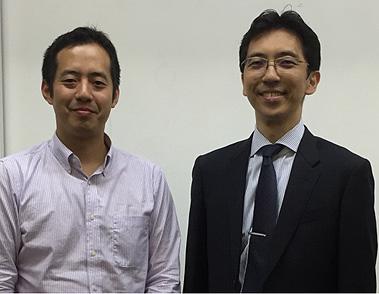 左より、南宮湖(呼吸器内科共同研究員)、石井誠(同専任講師)