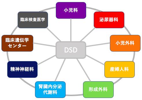 図1. 包括的かつ診療科横断的な性分化疾患(DSD)センター